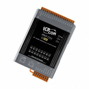 PET-7251 Ethernet I/O Module with 2-port Ethernet Switch, with 16-ch DI, PoE (RoHS)