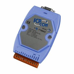 I-7188XC/512/RTC PC-compatible 20MHz Industrial Controller, 256kb Flash, 512kb SRAM, I/O Expansion Bus, 3xDI/3xDO, 1xRS485, 1xRS232/485, MiniOS7, Real Time Clock, cable CA-0910Fx1