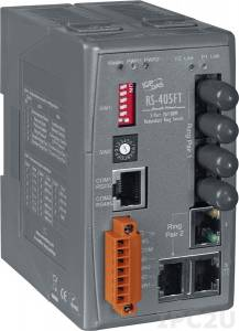 RS-405FT Industrial Redundant Ring Switch with 3 10/100 Base-T Ports and 2 100 Base-FX (multi mode) Ports