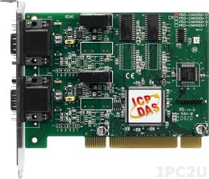 PISO-CAN200U-D Dual-Port Isolated Universal CAN Interface Card as PCI Card