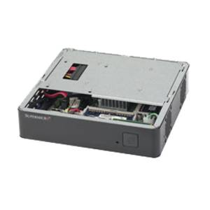 SYS-E200-8B Embedded System, Single socket BGA 1170 Intel Celeron J1900 2GHz , Up to 8GB non ECC DDR3L, DP, VGA, HDMI, 2xGbit LAN, 2xUSB, 1xMini-PCIe, mSATA, 6x SATA, 1x SATA DOM, 1x2.5 Drive Bay, 60W DC Power Adapter