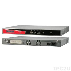 "AR-R6000D51 19"" Rackmount 1U Network Security Appliance, Intel Atom D510 1.66GHz CPU, 1GB DDR2 RAM (max. 2GB DDR2), 4xGbit LAN, 1x Bypass Ports, RS232, 2xUSB, CF Socket, 3.5"" or 2.5"" SATA Drive Bay, AC Power Supply, LCM"