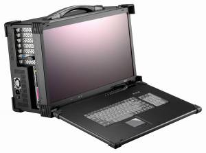 "ARP690-P21BD Aluminum case for a workstation with display 21.5 ""FHD 1920x1080 TFT LCD / display interface DVI / 7 expansion slots / compartments 6x5.25"" / 1xSlim DVD / 2xSpeakers 3 W / 104 keys keyboard / touchpad / PS/2 600 W Power / support ATX"