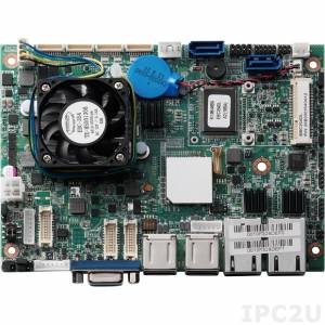 "EBC-354DL 3.5"" Low power Embedded Board with Intel Atom D2550 1.86GHz CPU and NM10 Express Chipset, DDR3, VGA/2xLVDS, 2xGbE LAN, 2xSATA, 3xRS-232, 1xRS-232/422/485, 6xUSB, DIO, Audio, 2xMini PCIe Expansion Slots, +12V DC-in, w/o Cable kit"