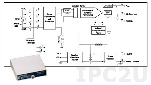 SCM5B35-05 Linearized 4-Wire RTD Input Module, Pt-100, -100...+200 C, output: 0...+5 V