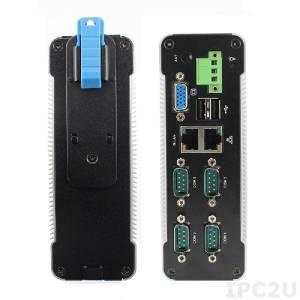 D-3332-C4 DIN rail mountable Embedded PC, Vortex86DX2 933MHz CPU, 2GB DDR2 RAM, LAN, GbE LAN, 2xUSB, 4xRS-232, SATA, SD slot, 8..24V DC, operating temp. 5..50 C