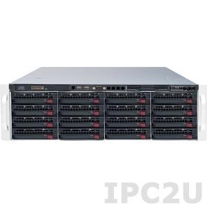 "iROBO-NAS05 Rackmount NAS Cluster System, up to 32GB RAM, 2x Giga LAN, KVM over LAN, IPMI, max. 16x 3.5"" SATA/SAS HD HotSwap, euroNAS Cluster, 920W redundant Power Supply je Server"