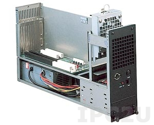 """GHB-B04 19"""" Rackmount 6U Chassis, 4 Slots, 1x3.5"""" FDD/1x3.5"""" HDD Drive Bays, without P/S"""