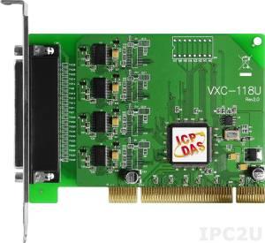 VXC-118U 8xRS-232 115.2Kbps Universal PCI Board