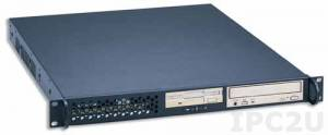 """GHI-105DX 19"""" Rackmount 1U Chassis, ATX, 2x5.25""""/1x3.5"""" Drive Bays, without P/S"""