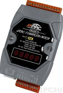 uPAC-7186PEXD-MTCP Modbus/TCP palm-size programmable automation controller support Power over Ethernet with display