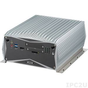 "NISE-3700P2E Fanless Embedded Server, Support 4th Gen Intel Core i7/i5/i3 CPUs, Intel Q87 Chipset, up to 8GB DDR3L RAM, DVI, HDMI, 3xGbit LAN, 8xUSB, 2xCOM, CFast Socket, Audio, 1x2.5"" SATA HDD Bay,1xPCI, 1xPCIex4, 9-30V DC-In"
