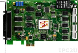 PEX-1002H Multifunction PCI Express Adapter, 32SE/16D ADC, 16DI, 16DO, Timer, Cable Socket CA-4002x1