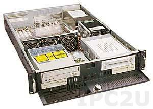 "GH-231ATX 19"" Rackmount 2U Chassis, ATX, 2x5.25""/2x3.5"" FDD/3x3.5"" HDD Drive Bays, 3xHorizontal slots, without P/S"