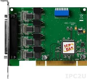 VXC-114iAU 4xRS-232 115.2Kbps Universal PCI Board with isolation