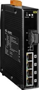 NS-205PFCS Industrial Smart Ethernet Switch, Single-mode, SC Connector, 4-Port 10/100 Mbps PoE with 1 Fiber port