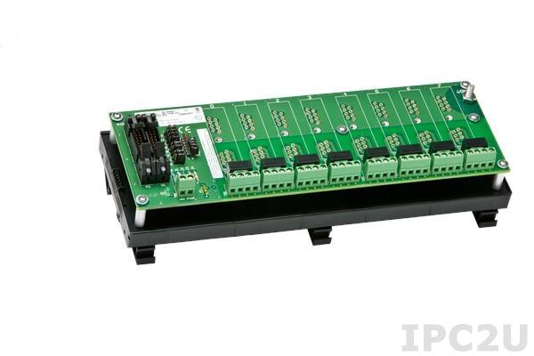 SCMPB05-3 8 Channel Backpanel for SCM5B Modules, DIN-rail Mounting