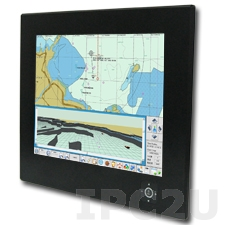 "R20L100-MRA2 T/S Industrial 20.1"" TFT LCD Rugmate Marine Bridge System Display, 1600x1200, Resistive T/S, VGA, RCA, S-Video, DVI-D, Front Ranel IP65, power supply 9-36V DC"