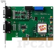 VXC-182iAU CR 1xRS-232, 1xRS-422/485 115.2Kbps with Isolation Protection PCI Board