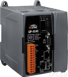 LP-8141-EN PC-compatible PXA270 520MHz Industrial Controller, 48Mb Flash, 128Mb SRAM, 1xRS-232, 1xRS-485, 2xEthernet, Linux 2.6.19, with 1 Expansion Slot