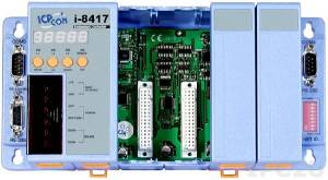 I-8417 PC-compatible 40MHz Industrial Controller, 512kb Flash, 512kb SRAM, 2xRS232, 1xRS485, 1xRS232/485, 7-Segment Display, ISaGRAF, 4 Expansion Slots