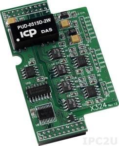 X324 4 AO, 4 DO Module for I-7188XB/XG/EX/EG, uPAC-7186XB/XG/EX/EG-FM/SM/SD/FD