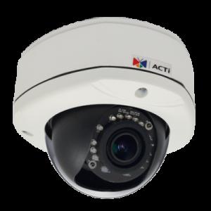 E84A 2MP Outdoor Dome with D/N, Adaptive IR, Basic WDR, SLLS, Vari-focal lens, f2.8-12mm/F1.4, H.264, 1080p/30fps, DNR, Audio, MicroSDHC/MicroSDXC, PoE, IP67, IK10, DI/DO