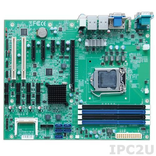 RUBY-D716VG2AR ATX motherboard based on Intel Q87 chipset supporting IntelCore i3/i5/i7 processor with HDMI/DVI-D/VGA, up to 32Gb DDR3, 2xGb LAN, 4xUSB3.0, 8xUSB2.0, 6xCOM, GPIO, 5xSATA, RAID 0/1/5/10, 1xPCIe x16, 2xPCIe x1, 2xPCIe x4(x1), 2xPCI, Audio