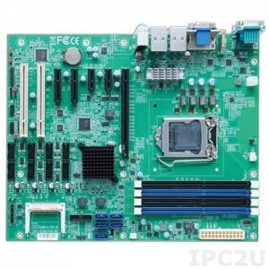 RUBY-D716VG2AR ATX motherboard based on Intel Q87 chipset supporting IntelCore i3/i5/i7 processor with HDMI/DVI-D/VGA, up to 32Gb DDR3, 2xGb LAN, 4xUSB3.0, 8xUSB2.0, 6xCOM, GPIO, 5xSATA, RAID 0/1/5/10, 1xPCIe x16, 2xPCIe x1, 2xPCIe x4(x1), 2xPCI, Audio