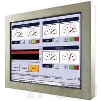 "R15IB3S-65C3 15"" LCD TFT Fanless Touch Panel Computer with Intel Celeron N2930 1.83Ghz, Resistive TouchScreen, 4GB DDR3 RAM, 64GB SSD, M12 IP65 Ports: 1x COM, 2x USB, 1x LAN, Power supply 12VDC"
