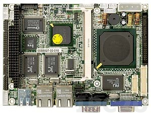 "WAFER-LX-800 3.5"" Embedded AMD Geode LX800 500MHz CPU Card with VGA/CRT/LVDS, 2xLAN, 2xSATA, RAID 0,1, PC/104 Slot, CompactFlash Socket, Audio"