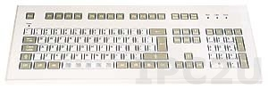 TKS-105a-KGEH-USB DeskTop Industrial IP65 Keyboard, 105 Keys, USB Interface