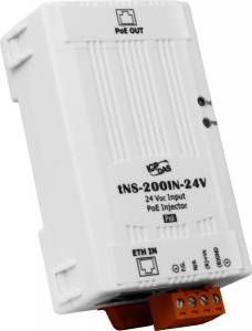 tNS-200IN-24V PoE Injector for 1 PoE port (uses unused pairs), 24 V input (RoHS)