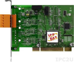 PISO-CAN100U-T 1-Port Isolated Protection Universal PCI CAN Communication Board with 5-pin Screw Terminal Connector (RoHS)