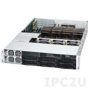 """iROBO-SR226-R 2U Rackmount Server, 4x Intel Xeon CPU LGA2011, max. 1TBGB DDR3 ECC Reg. RAM, max. 6x 3.5"""" SAS/SATA HDD Hotswap,KVM over LAN, IPMI, SAS RAID on board, 1400W redundant PSU"""