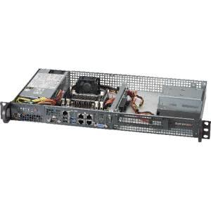 "SYS-5018A-FTN4 1U Super Server, 1xIntel Atom C2758 8 Core, Up to 64GB DDR3 1600MHz ECC, 2x 3.5"" SATA HDD, 4x GigaLan, IPMI, 200W PSU"