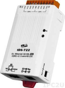 tDS-722 Device Server, 2xRS-232, RoHS