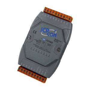 M-7059D 8-channel 10-80VAC Isolated Digital Input Module with 16-bit Counters (Gray Cover), LED Display
