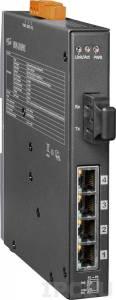 NSM-205PFCS-24V Industrial Smart Ethernet Switch, Single-mode, SC Connector, 4-Port 10/100 Mbps PoE with 1 Fiber port, 24 VDC Input Switch, metal case