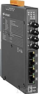 NSM-206AFT-T Industrial Smart Ethernet Switch with 4 10/100 Base-T Ports and 2 multi-mode 100 Base-FX Ports, 2 km, ST connector, metal case