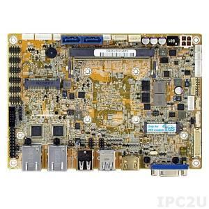 NANO-KBN-i1-2101 EPIC Embedded CPU Board supports AMD 28nm Quad-Core 1.0GHz with DDR3, VGA/HDMI/LVDS, 2xGb LAN, 6xCOM, 2xUSB 3.0, 6xUSB 2.0, 2xSATA 6G/s, DIO, Audio, PCIe Mini card slot