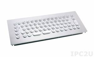 TKV-068-MODUL-PS/2 Embedded Vandal Proof IP65 Keyboard, front panel of stainless steel, 68 Keys, TouchPad, PS/2 Interface