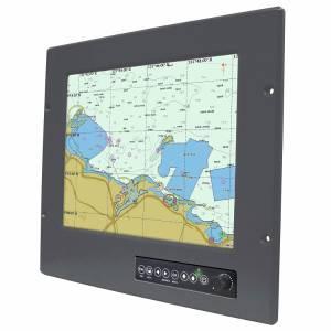 "R12L600-MRM2 12.1"" TFT LCD Industrial Rugmate Marine Bridge System Display, VGA Input, Front Ranel IP65"
