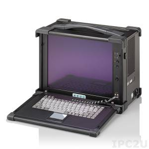 "EMP350-15 Aluminium Industrial Portable Workstation, 15"" TFT LCD, VGA Conversion Board, 11 Slots, 87 Keys Keyboard, TouchPad, 1x5.25"" SLim/2x3.5"" Drive Bays/1x3.5"" FDD bay, 300W Power Supply"