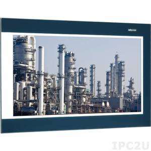 "IPPD-2100P-B 21.5"" IP66 Heavy Industrial 16:9 WXGA Zero Bezel Flush Touch Monitor, 300 nits, Projected Capacitive Touch, VGA, DVI-D, DisplayPort, 12...+24V DC-In"