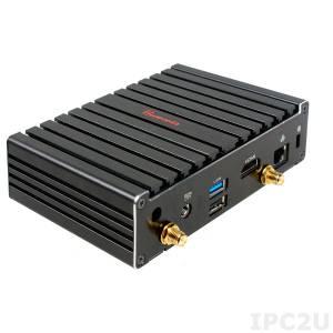 JBC400P93W-2807-B JetWay Embedded Mini-PC, Intel Celeron N2807 1.58 GHz, 2GB DDR3L RAM on board, HDMI, 1xGbit LAN, 2xUSB, mSATA, 1xMini-PCIe, WiFi, 12V DC-In, External Power Adapter