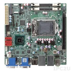 KINO-AH611 Mini-ITX SBC CPU Card, supports LGA1155 Intel Core i7 /i5/ i3 CPU,DDR3,dual HDMI / dual VGA,Dual PCIe GbE,SATA 3Gb/s,HD Audio