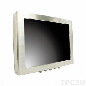 "iROBO-FP156S-KRW 15"" TFT LCD Full IP65 Panel PC, Stainless Steel, Touch Screen, Intel Atom D2550 1.86GHz, up to 4GB DDR3 SODIMM RAM, Gbit LAN, 2xCOM, USB, Mini-PCIe, 9..36V DC-In"