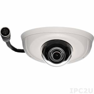 NCm-301-VM Network Camera 3MP@20fps, 1080@30fps, H.264/ M-JPEG, Fixed lens 3.6mm F1.8, 100dB true WDR, Micro SD slot, PoE 48V max, IK10 vandal resistant, IP67, M12 Connector, EN-50155 certified, image stabilization, -40...60 C