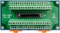 DN-68A DIN-Rail Mountable I/O Connector Block with 68-pin SCSI II Female Connector (RoHS)